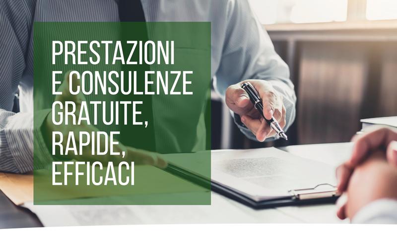 prestazioni e consulenze gratuite