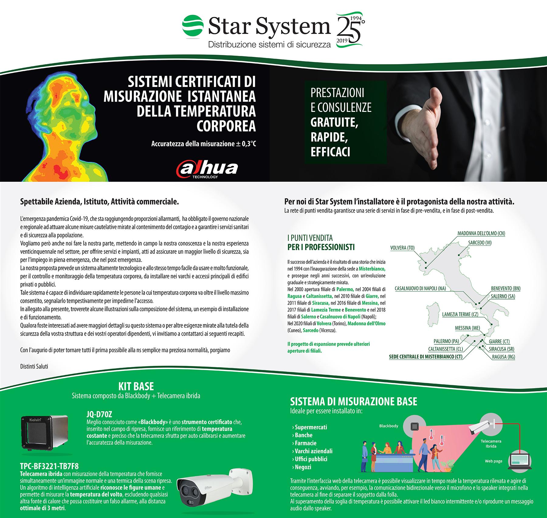 Sistema di misurazione della temperatura corporea
